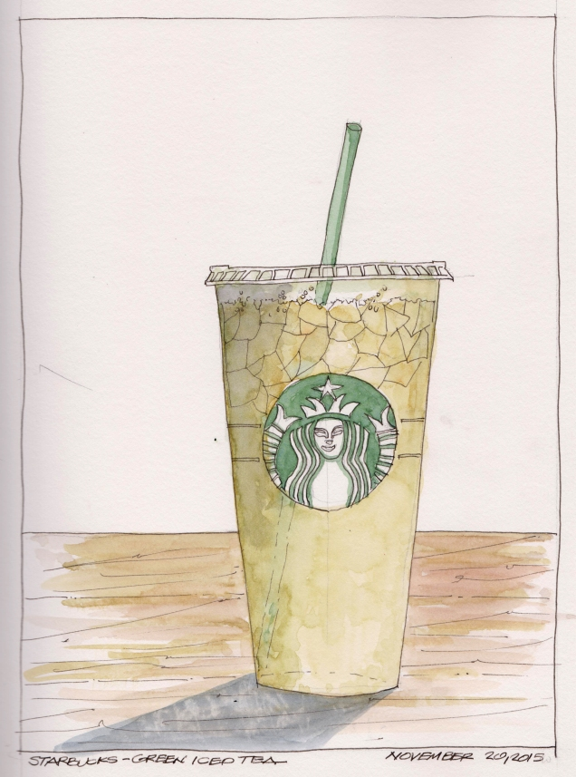 2015-11-20 Starbucks Green Tea